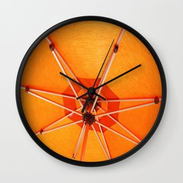 Bight Orange Umbrella Wall Clock