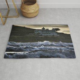 Stormy Burgh Island Hotel Rug
