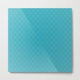 Turquoise Lattice Metal Print