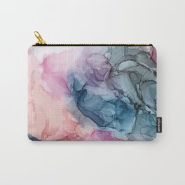 Heavenly Pastels: Original Abstract Ink Painting Carry-All Pouch