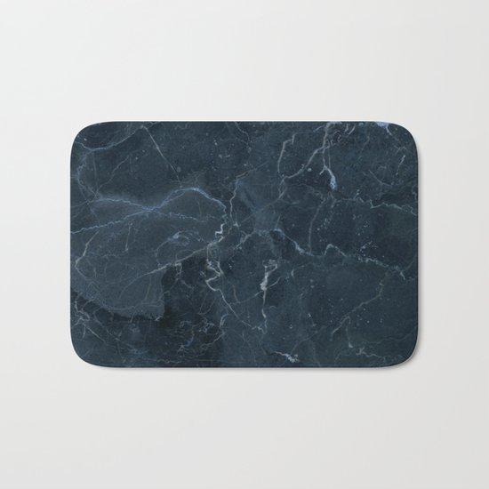Dark blue marble texture Bath Mat