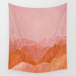 Lines in the mountains - pink II Wall Tapestry