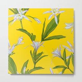 Flowers Lilies Metal Print