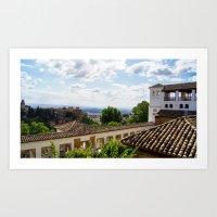 Calat Alhambra (The Red Palace), Granada, Spain. Art Print