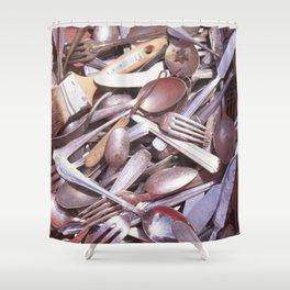 ARAGO SILVERWARE Shower Curtain