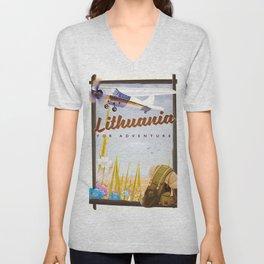 lithuania For an adventure Unisex V-Neck