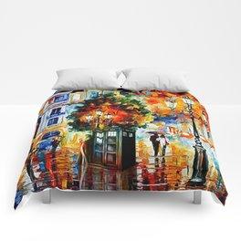 Tardis In The City Comforters