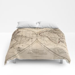 Old Fashioned World Map (1795) Comforters