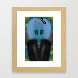 Alien Girl Framed Art Print