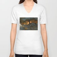 feet V-neck T-shirts featuring Cold Feet by Sam Rowe Illustration