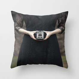 Vintage Camera II Throw Pillow