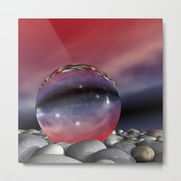 lightrefraction  and glass Metal Print