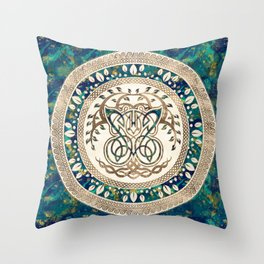 Butterfly and Tree of life Yggdrasil Throw Pillow