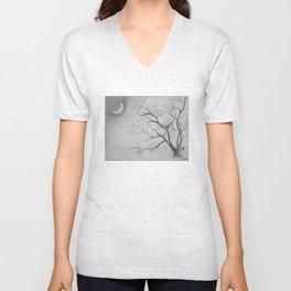 Tree Moon Light Unisex V-Neck