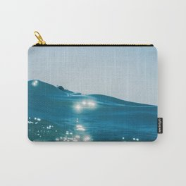 Sea wave close up, low angle view water background Carry-All Pouch