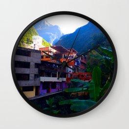 Aguas Calientes Wall Clock