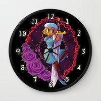 sword Wall Clocks featuring Sword by S.A.