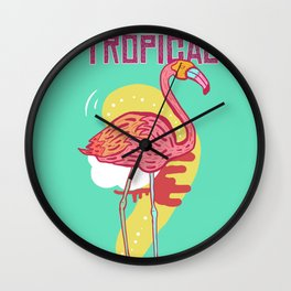 Avalanche Tropical Wall Clock