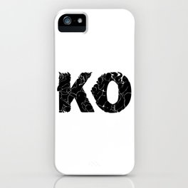 knock out KO iPhone Case
