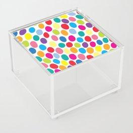 Colour Spots White Acrylic Box