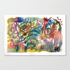 Abstract Watercolour 2016-06-29 Canvas Print