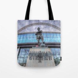 Booby Moore Statue Wembley Stadium Tote Bag