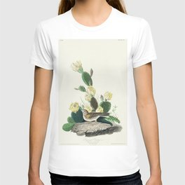 Grass Finch or Bay-winged Bunting from Birds of America (1827) by John James Audubon etched by Willi T-shirt