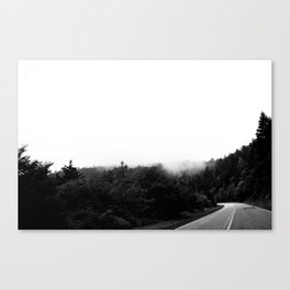 Driving into the Clouds Canvas Print