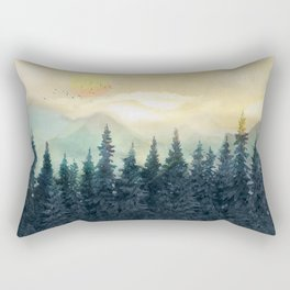 Forest Under the Sunset II Rectangular Pillow