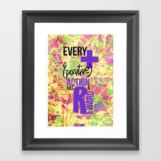 (+) Positive! Framed Art Print