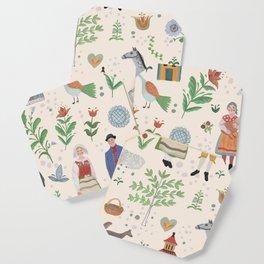 Swedish Folk Art Coaster