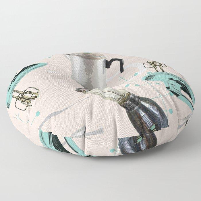 Fifties Kitchen Eggshell Floor Pillow