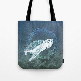 Green Sea Turtle Wreath Tote Bag