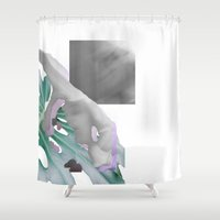 moscow Shower Curtains featuring Moscow Clinics by Tate Bacalao