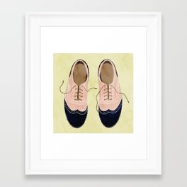 girl shoes stay at home Framed Art Print