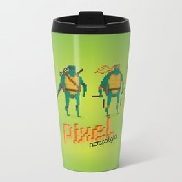 Ninja Turtles - Pixel Nostalgia Metal Travel Mug