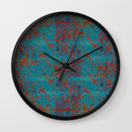 Turquoise with Red Wall Clock
