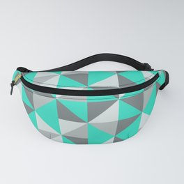Aqua and Grey Retro Inspired Pattern Fanny Pack