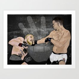 Nate Diaz Stockton Slap Art Print