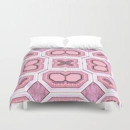 Victorian Art Deco Medieval Pattern light pink SB43 Duvet Cover