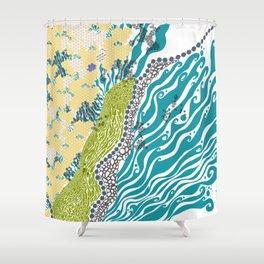Beehive Island Shower Curtain