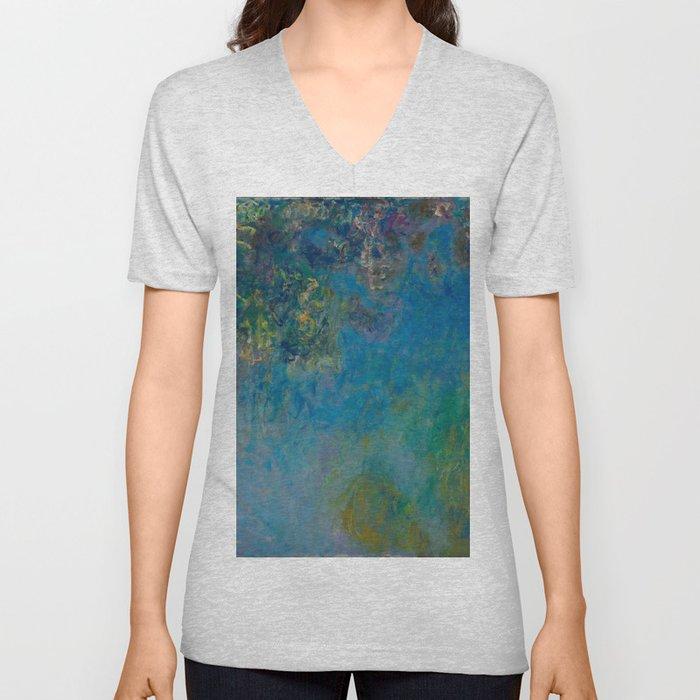 Wisteria by Claude Monet 1925 Unisex V-Neck