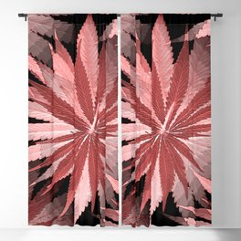 Loving Living Coral Leaves.... Blackout Curtain