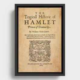 Shakespeare, Hamlet 1603 Framed Canvas
