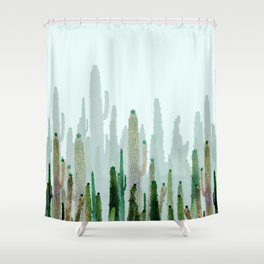 horizont cactus Shower Curtain