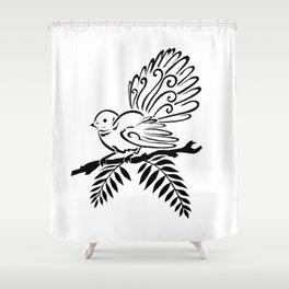 Fantail Bird Shower Curtain
