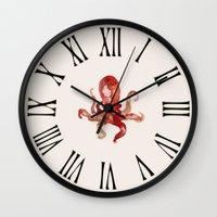 custom Wall Clocks featuring octo by Okti
