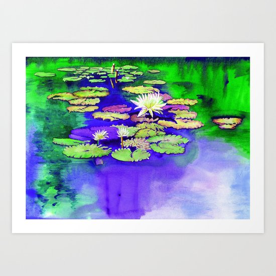 Secret Pond Art Print