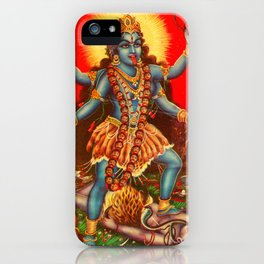 bhairav-attributes-kali iPhone Case