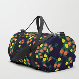 Marigold Flower at Night Duffle Bag
